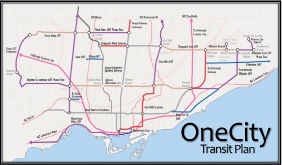 OneCity Transit Map
