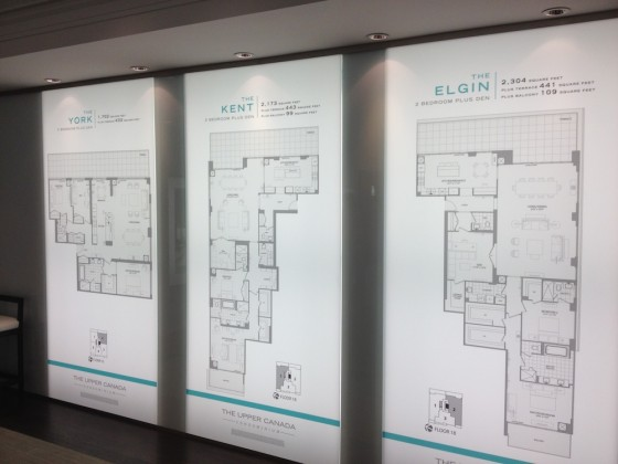 The Upper Canada Condominiums floor plan displays