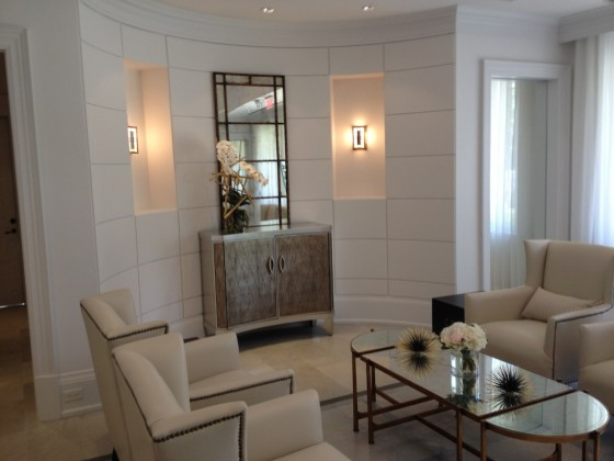 The Upper Canada Condominiums model suite -- living room