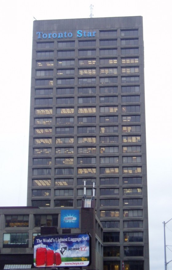 Toronto Star Building. Courtesy Wikimedia Commons.